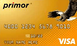 Primor – Secured Visa with Gold Cards